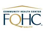 Aza Health is a Federally Qualified Health Center. This image depicts the logo and reads FQHC.